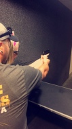Hubby and our niece at the range