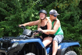 Hubby and our niece on the new four wheeler