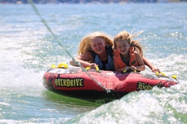 Both of our nieces tubing